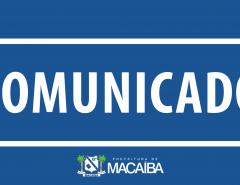 Informe Publicitário: Prefeitura de Macaíba decreta ponto facultativo para sexta após feriado de Corpus Christi