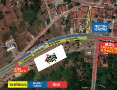 Macaíba: Haverá alteração do fluxo de veículos em algumas vias em virtude do São João