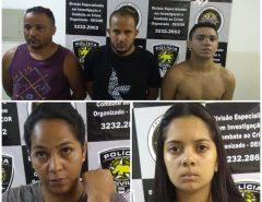 Polícia Civil prende integrantes de facção criminosa envolvida com homicídios e tráfico de drogas