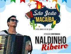 Nas redes sociais, Prefeitura divulga mais uma atração do São João de Macaíba