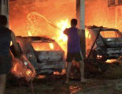 Incêndio atinge carros no estacionamento da Emater na região Seridó potiguar