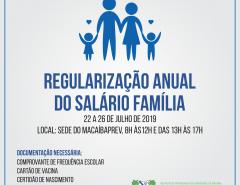 ATENÇÃO! MacaíbaPREV convoca segurados para regularização do Salário Família 2019