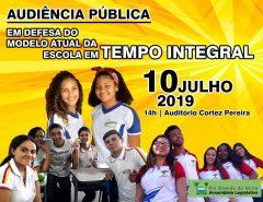 Alunos da E.E. Alfredo Mesquita em Tempo Integral participam de Audiência Pública na próxima quarta (10)