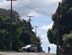 PM apreende moto com queixa de roubo e suspeitos fogem em bairro de Macaíba