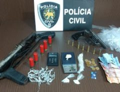 """Polícia Civil realiza terceira fase da operação """"Parabellum"""" em  Macaíba; casal é preso"""
