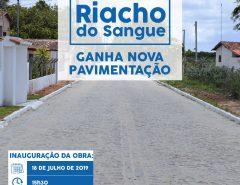 Prefeitura inaugura obras de pavimentação em Riacho do Sangue nesta quinta (18)