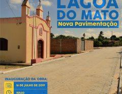 Lagoa do Mato terá inauguração de pavimentação nesta terça