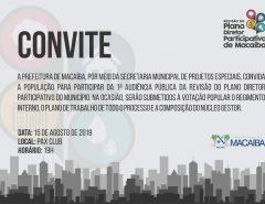 Convite: primeira reunião para discutir o desenvolvimento organizado de Macaíba acontece nesta quinta-feira (15)