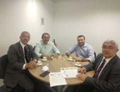 Emídio Jr. e Edivaldo Emídio se reúnem com secretário de Segurança Pública do Estado
