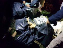 Carro é perseguido, cai em lagoa, e PRF apreende mais de 160 quilos de maconha em Monte Alegre, RN