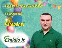 Aniversariante do dia: vereador Emídio Jr.