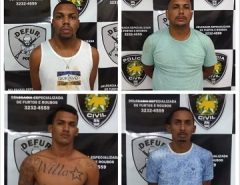 Polícia Civil prende trio por associação criminosa e roubo na Zona Sul de Natal