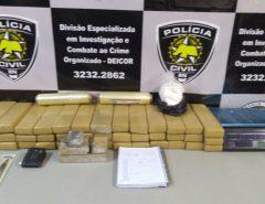 Polícia Civil apreende cerca de 50 kg de drogas e detém suspeito na Grande Natal