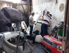 Polícia Civil descobre mais uma oficina em Natal usada para desmanche de veículos roubados