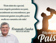 Mensagem do Dia dos Pais do prefeito Dr. Fernando