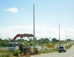 DNIT trabalha para concluir processos administrativos para viabilizar energização da rede de postes da BR-304 em Macaíba