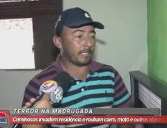 Terror na Madrugada: Criminosos invadem residência e roubam carro, moto e outros objetos em Macaíba