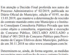 Concurso público de Macaíba: edital é anulado
