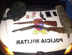 Operação da PM apreende armas de fogo no Litoral Norte