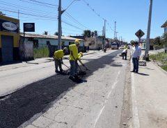 Macaíba: Caern começa a recuperação do asfalto danificado para execução de saneamento básico