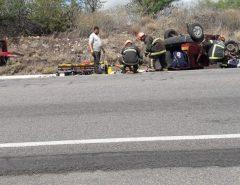 Cinco pessoas ficam feridas em acidente de trânsito na BR-304, no RN