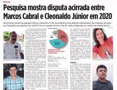 Vera Cruz: pesquisa mostra disputa acirrada com Marcos Cabral 37,8% contra 34,3% de Cleonaldo Júnior