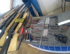 PM desarticula fábrica clandestina de armas em São José de Mipibu/RN