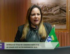 Vereadora Ana Catarina participa de solenidade de entrega de título de cidadania na Câmara Municipal de Natal