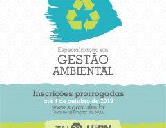 EAJ: Inscrições prorrogadas para pós-graduação em Gestão Ambiental