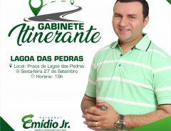 Emídio Jr. realizará reunião do Gabinete Itinerante em frente à obra parada da Lagoa das Pedras
