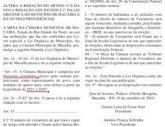 Câmara de Macaíba aprova aumento do número de vagas