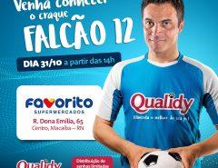 Rei do Futsal, Falcão estará em Macaíba na próxima quinta-feira (31)
