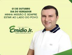 Mensagem do vereador Emídio Jr. em alusão ao Dia do Vereador