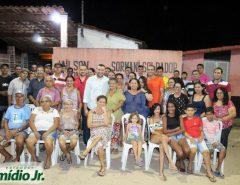 Emídio Jr. e Denilson Gadelha realizam grande reunião na comunidade do Araçá