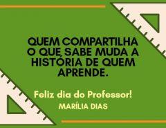 Mensagem da ex-prefeita Marília Dias, em homenagem aos professores