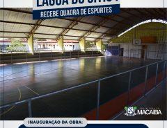 Prefeitura inaugura quadra de Lagoa do Sítio I nesta quarta-feira (30)