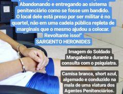 PM Hermano Mangabeira está há mais de 50 dias preso e seu estado de saúde tende a agravar