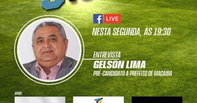 Vereador Gelson Lima é o entrevistado do programa Três Toques desta segunda (21)