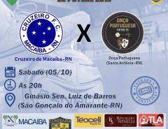 Cruzeiro de Macaíba: Segunda Rodada do Estadual de Futsal