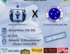 Futsal: Cruzeiro de Macaíba joga na próxima sexta-feira (18)