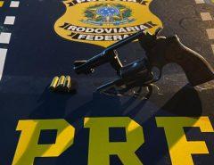Mais uma arma é apreendida pela PRF em Parnamirim