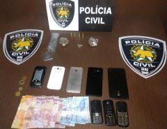 Polícia Civil prende três pessoas e apreende drogas em Macaíba