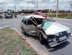 Motorista passa mal e bate em outro veículo na RN-160, que liga Macaíba e São Gonçalo
