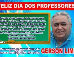 Mensagem do Dia dos Professores do presidente da Câmara Municipal Gerson Lima