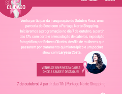 Sesc RN lança campanha Outubro Rosa no Partage Norte Shopping