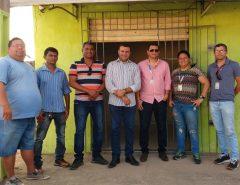 Emídio Jr. e representantes dos Correios visitam o bairro Bela Vista