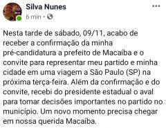 PSOL confirma nome do Poeta como pré-candidato a prefeito de Macaíba