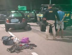 Assaltante é preso na BR-101 com arma e veículo roubado