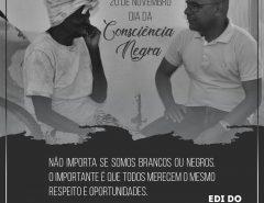 Mensagem de Edi do Posto da Maré alusiva ao Dia da Consciência Negra
