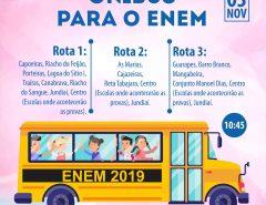 Informe Publicitário: Transporte para o ENEM 2019 em Macaíba; confira rotas e horários